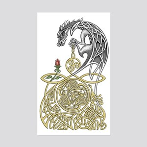 Celtic Dragon Sticker (Rectangle)