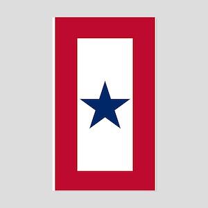Blue Star Flag Sticker (Rectangle)
