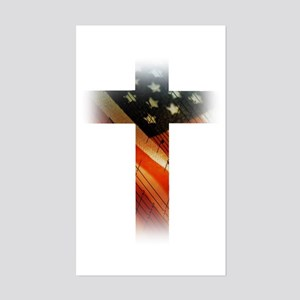 Flag in Cross Sticker