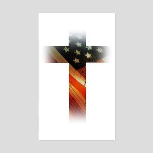 Flag in Cross Sticker