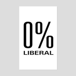 0% Liberal Rectangle Sticker