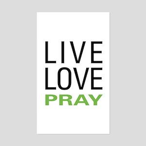 Live Love Pray Rectangle Sticker