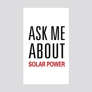 Ask Me About Solar Power Rectangle Sticker