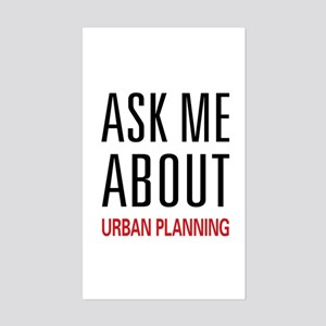 Ask Me About Urban Planning Rectangle Sticker