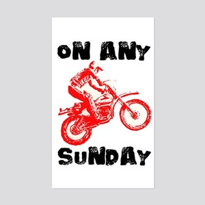 ON ANY SUNDAY Sticker (Rectangle)