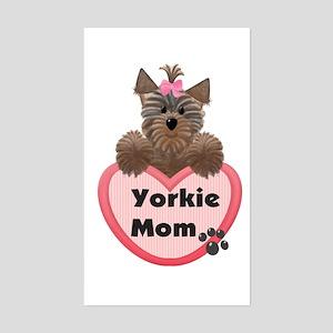 Yorkie Mom Rectangle Sticker