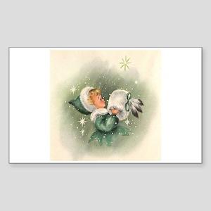 Winter Wonderland Rectangle Sticker