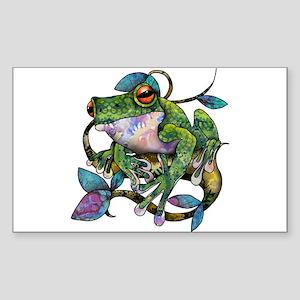 Wild Frog Sticker (Rectangle)