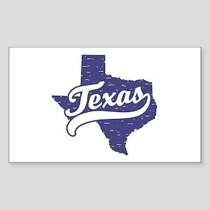 Texas Rectangle Sticker