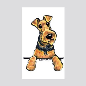 Welsh Terrier Paws Up Sticker (Rectangle)