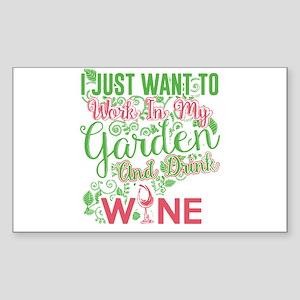 Gardening and wine Sticker