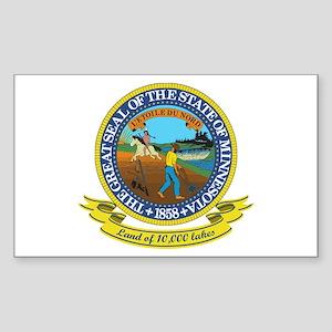 Minnesota Seal Sticker (Rectangle)