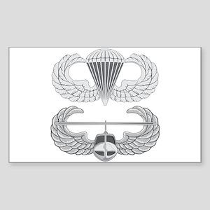 Airborne and Air Assault Sticker (Rectangle)