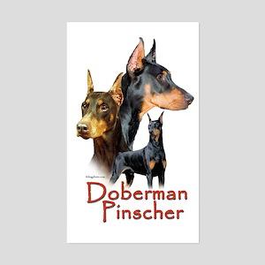 Doberman Pincher-1 Rectangle Sticker