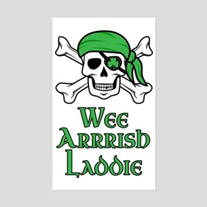 Irish Pirate Sticker (Rectangle)