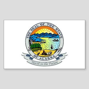 Alaska State Seal Sticker (Rectangle)