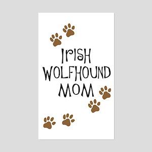 Irish Wolfhound Mom Rectangle Sticker