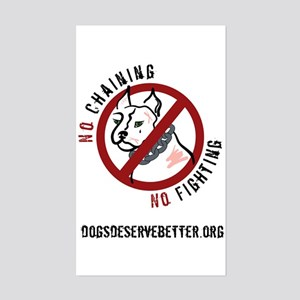 No Chains No Fights Rectangle Sticker
