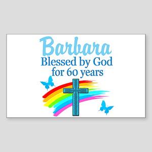 DELIGHTFUL 60TH Sticker (Rectangle)