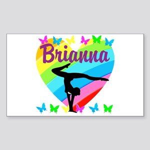 PERSONALIZE GYMNAST Sticker (Rectangle)