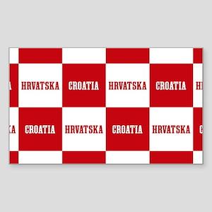 Croatia - Hrvatska Checkere Sticker