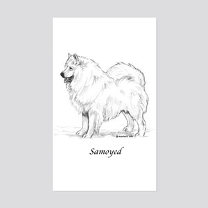Samoyed Sticker (Rectangle)