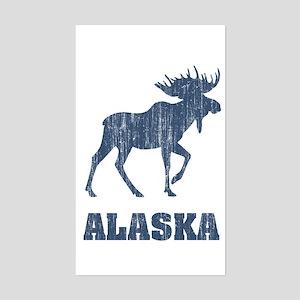 Retro Alaska Moose Rectangle Sticker