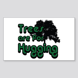 Trees are for Hugging Rectangle Sticker