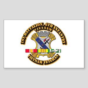 1st Battalion, 6th Infantry Sticker (Rectangle)