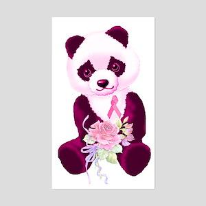 Breast Cancer Panda Bear Rectangle Sticker