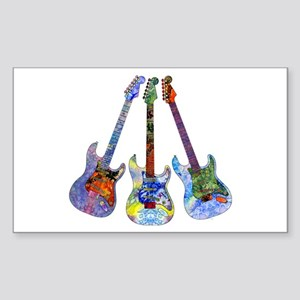 Wild Guitar Sticker (Rectangle)
