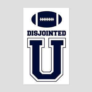 Disjointed U - Rectangle Sticker