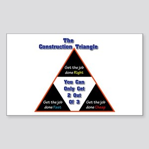 Construction Triangle Rectangle Sticker