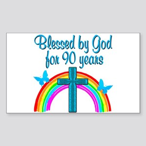 CHRISTIAN 90 YR OLD Sticker (Rectangle)