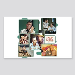 Andy Griffith Collage Sticker (Rectangle)