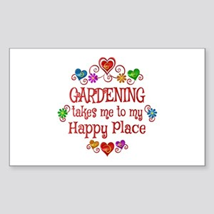 Gardening Happy Place Sticker (Rectangle)