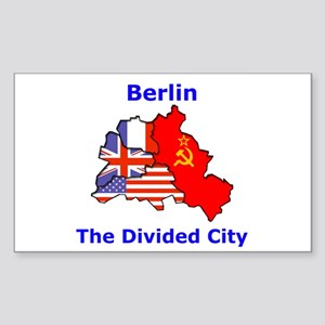 Berlin: The Divided City Rectangle Sticker