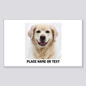 Dog Photo Customized Sticker (Rectangle)