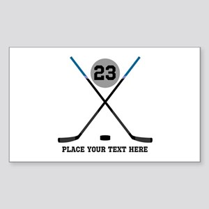 Ice Hockey Personalized Sticker (Rectangle)