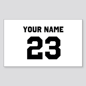 Customize sports jersey number Sticker (Rectangle)