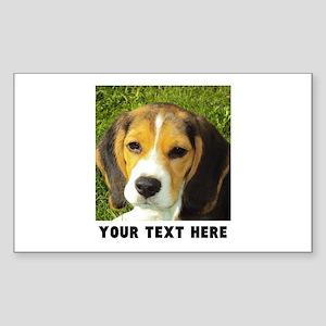 Dog Photo Personalized Sticker (Rectangle)