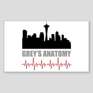 Grey's Anatomy Seatle Sticker (Rectangle)