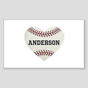 Baseball Love Personalized Sticker (Rectangle)