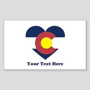 Colorado Flag Heart Personaliz Sticker (Rectangle)