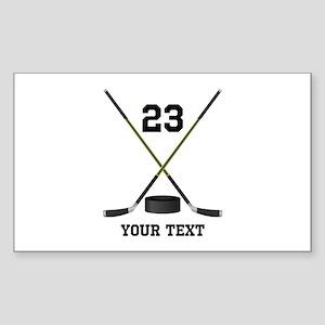 Ice Hockey Personalized Sticker (Rectangle)