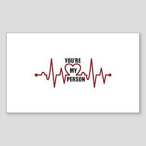 Grey's Anatomy My Person Sticker (Rectangle)