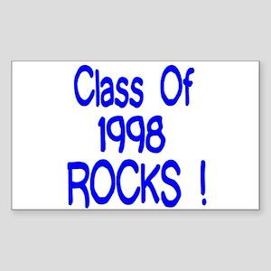 1998 Blue Rectangle Sticker