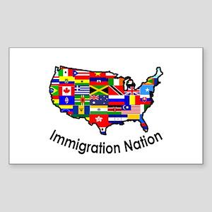 USA: Immigration Nation Rectangle Sticker