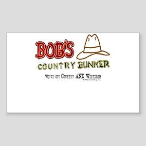 Bob's Country Bunker Rectangle Sticker
