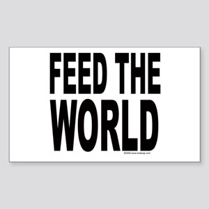 Feed the World Rectangle Sticker